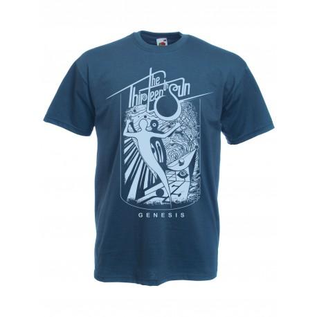 """THE THIRTEENTH SUN """"Genesis"""" T-Shirt blue"""