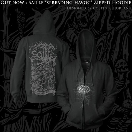 "SAILLE ""Spreading Havoc"" zipped hoodie"