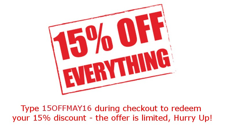 15% Discount May