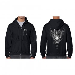 "MESSA ""Belfry Ritual"" full zip hooded sweatshirt"