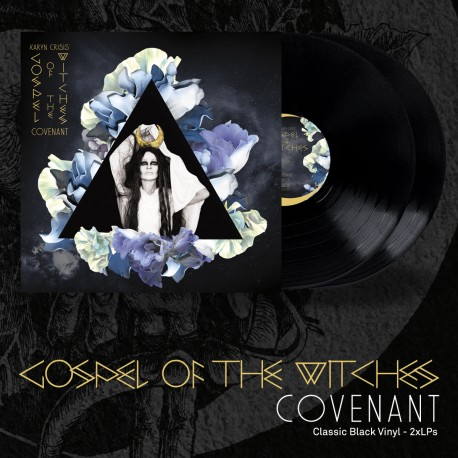 "KARYN CRISIS GOSPEL OF THE WITCHES ""Covenant"" black DLP"