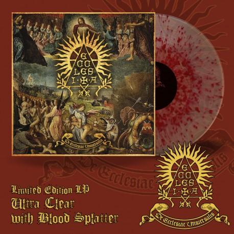 """ECCLESIA """"De Ecclesiae Universalis"""" Translucent Gold and Blood Splatter LP"""